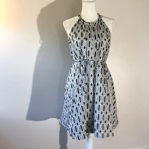 Banana Republic Geometric Halter Dress Size S